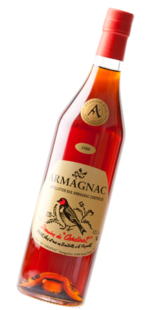 Vintage armagnac from 1988 Gold medal Winner of the Agricultural Brandies Competition Eauze 2011